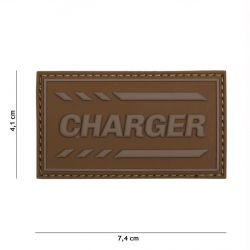 Patch 3D PVC Charger Coyote (101 Inc)