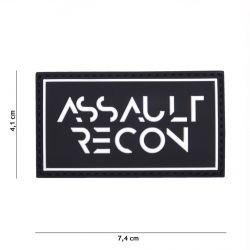 Patch 3D Assault Recon Black PVC (101 Inc)