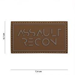 3D PVC Assault Recon Coyote Patch (101 Inc.)