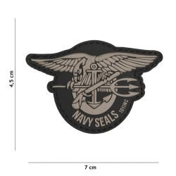Patch 3D PVC Navy Seals Gris (101 Inc)