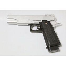 replique-Pistolet Ressort Hi-Capa 5.1 Argent Metal (Galaxy G6S) -airsoft-RE-GAG6S