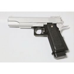 Pistolet Ressort Hi-Capa 5.1 Argent Metal (Galaxy G6S) RE-GAG6S Répliques à Ressort