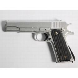 replique-Pistolet Ressort Colt 1911 Argent Metal (Galaxy G13S) -airsoft-RE-GAG13S