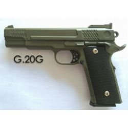 Galaxy G20 type Smith & Wesson M1911 M945 OD Full Metal Ressort RE-GAG20G Pistolet à ressort - Spring