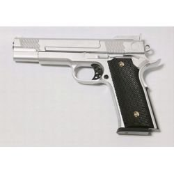 replique-Pistolet Ressort Browning M945 Argent Metal (Galaxy G20S) -airsoft-RE-GAG20S