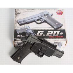 replique-Pistolet Ressort Browning M945 w/ Holster Metal (Galaxy G20+) -airsoft-RE-GAG20+