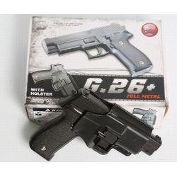 Galaxy G26 type Sig Sauer P226 Full Metal Ressort Avec Holster RE-GAG26+ Pistolet à ressort - Spring