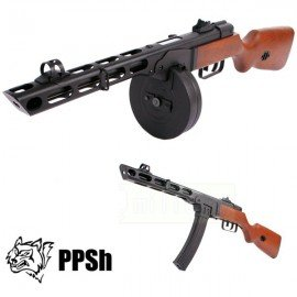 replique-Snow Wolf PPSH 41 Bois & Métal BlowBack -airsoft-RE-SW09W