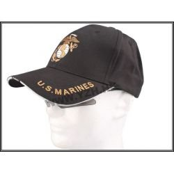 Emerson Casquette Baseball US Marines Noir (Emerson) HA-EMBD5408 Uniformes