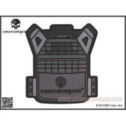 Emerson Patch 3D PVC Gilet JPC Gris (Emerson) AC-EMEM5528A Patch en PVC