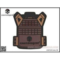 Emerson Patch 3D PVC Gilet JPC Coyote (Emerson) AC-EMEM5528 Patch en PVC