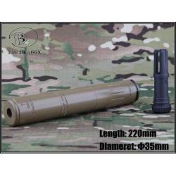 Emerson Silencieux AAC M4-2000 Deluxe 220mm Desert (Emerson) AC-EMBD0502A Silencieux & Adaptateur