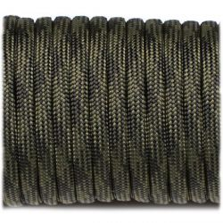 Paracord 4mm Type III 550 Black Forest (Fibex)