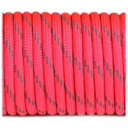Paracord 4mm Type III 550 Soft Pink Reflective (Fibex)