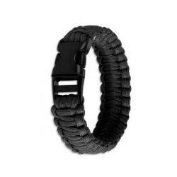 "Bracelet Paracorde ""Cobra"" Noir (Fibex)"