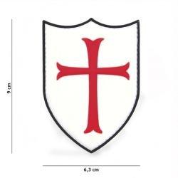 Parche cruzado de PVC 3D rojo y blanco (101 inc.)