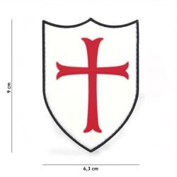 Patch 3D PVC Crusader Red & White (101 Inc)