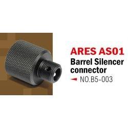 Acción Ejército de la acción Adaptador del ejército Silenciador Ares AS01 AC-AAB05003 Piezas Actualizaciones Francotirador