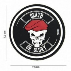 Patch 3D PVC Death or glory Noir (101 Inc)