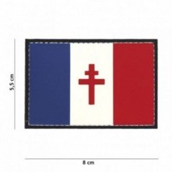 3D PVC Patch Französische Flaggen Kreuz Loraine (101 Inc)