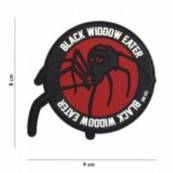 Patch 3D PVC Black Widow Eater Rouge (101 Inc)