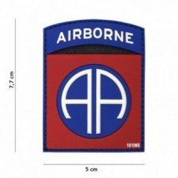 3D-PVC-Patch Airborne AA Rot (101 Inc)