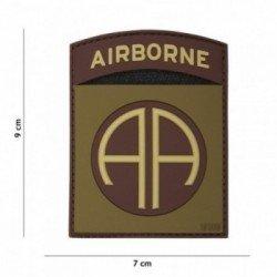 PVC Patch 3D Airborne AA OD & Braun (101 Inc)