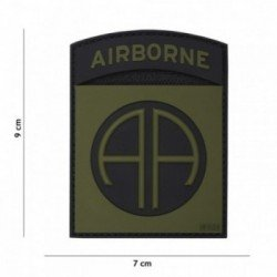 PVC Patch 3D Airborne AA OD & Black (101 Inc)