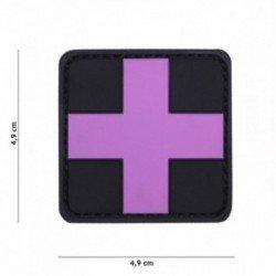 3D PVC Rose Cross Patch (101 Inc)