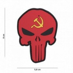 Patch 3D PVC Punisher Russia hammer and sickle