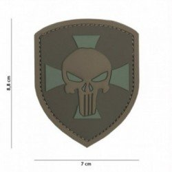 Patch 3D PVC Punisher Shield Cross Coyote (101 Inc)