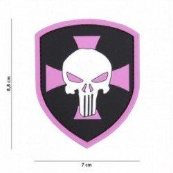 PVC Shield Patch Punisher Cross Rose (101 Inc)