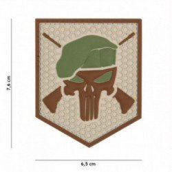 Patch 3D PVC Commando Punisher Coyote (101 Inc)