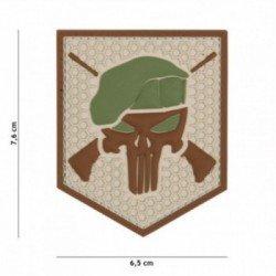 PVC Commando Punisher Coyote 3D Patch (101 Inc)