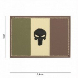 Patch 3D PVC Drapeau France Punisher Woodland (101 Inc)