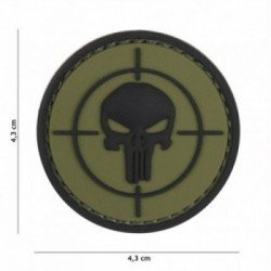 Patch 3D PVC Punisher Cible OD (101 Inc)