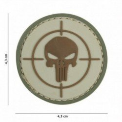 PVC Patch Punisher Target Coyote (101 Inc.)