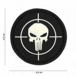 Patch 3D PVC Punisher Cible Noir (101 Inc)