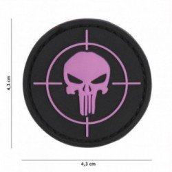 Patch 3D PVC Punisher Cible Rose (101 Inc)