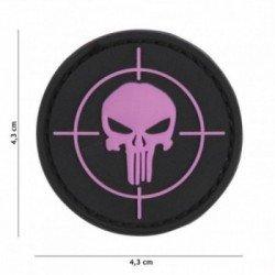 PVC Patch Punisher Target Pink (101 Inc)