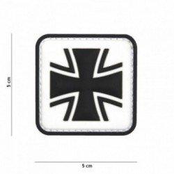 101 INC Patch 3D PVC Croix de Fer Blanc (101 Inc) AC-WP4441305384 Patch en PVC