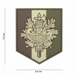 Patch 3D PVC Faisceau Republique Francaise Basse Visibilite (101 Inc)