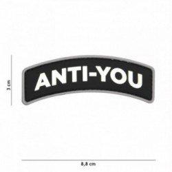 Patch 3D PVC Anti-You Noir (101 Inc)