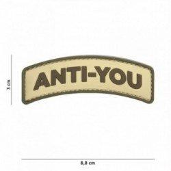 Parche de coyote anti-you de PVC 3D (101 inc.)