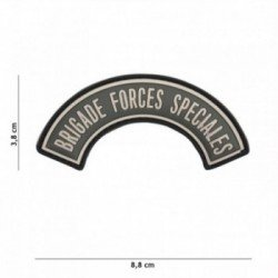 3D PVC Brigade Special Forces Grauer Patch (101 Inc)