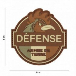 Patch 3D PVC Defense Armee de Terre Basse Visibilité (101 Inc)