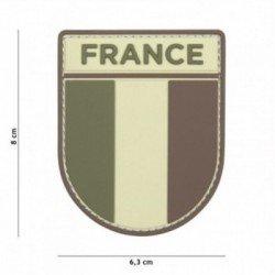 Parche 3D de PVC, ejército francés, baja visibilidad (101 inc.)