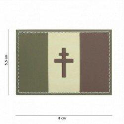 Parche de baja visibilidad de la bandera francesa de PVC 3D Lorraine Low (101 Inc)