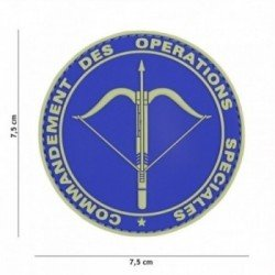 Patch 3D PVC Commandement Bleu (101 Inc)