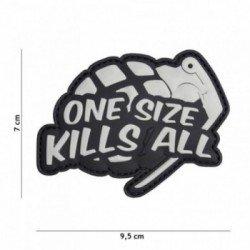 3D-PVC-Patch Eine Größe tötet alle Grau (101 Inc)